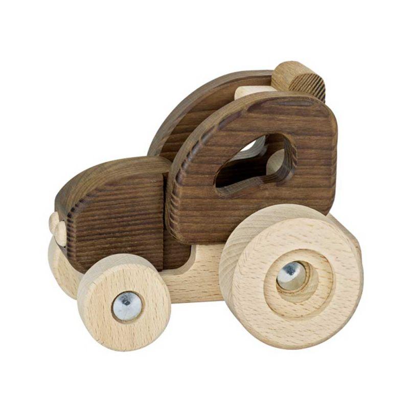 """Деревянная машинка """"Трактор"""", Goki"""