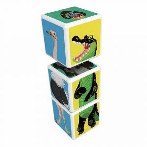 """Магнитные кубики MAGICUBE """"Животные саванны"""", Geomag"""