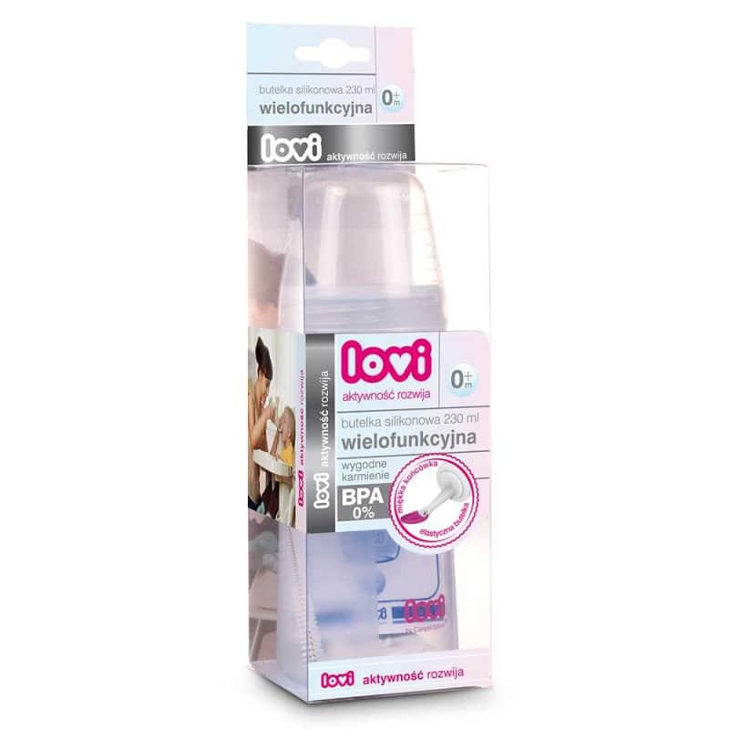 Силиконовая бутылочка с ложкой, Lovi