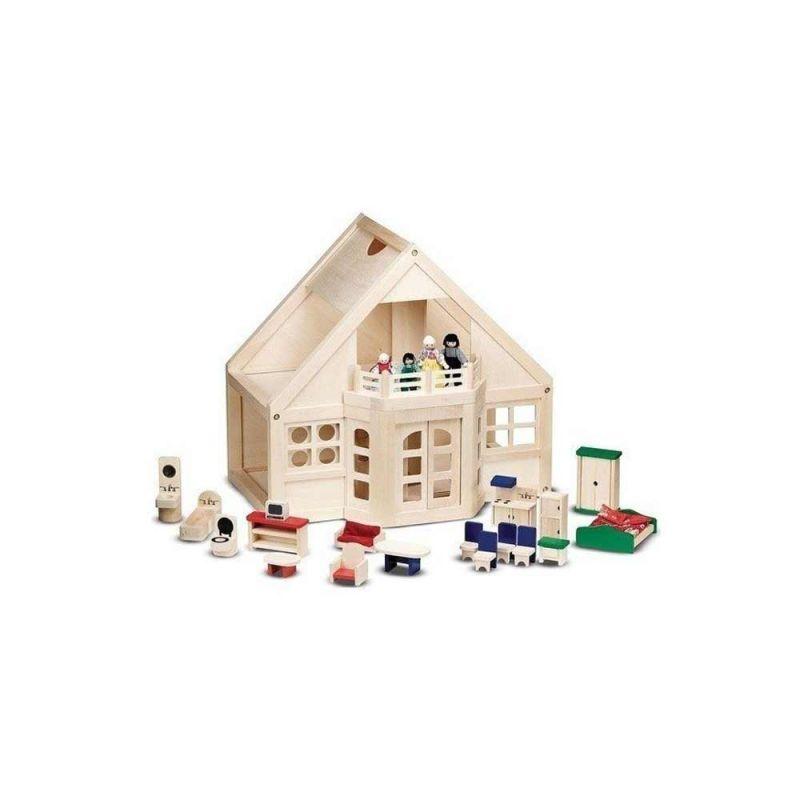 Кукольный деревянный домик с мебелью, Melissa&Doug