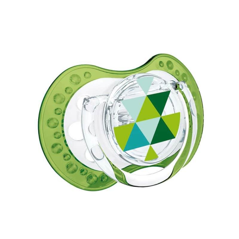 """Пустышка силиконовая динамическая зеленая и голубая """"ETNO"""" 2 шт., Lovi"""