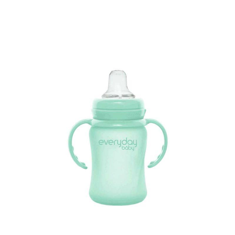 Поильник стеклянный с силиконовой защитой, Everyday Baby