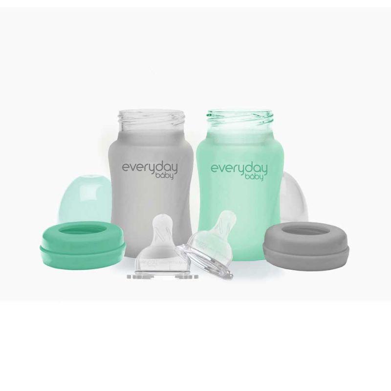Бутылочка стеклянная с силиконовой защитой, Everyday Baby