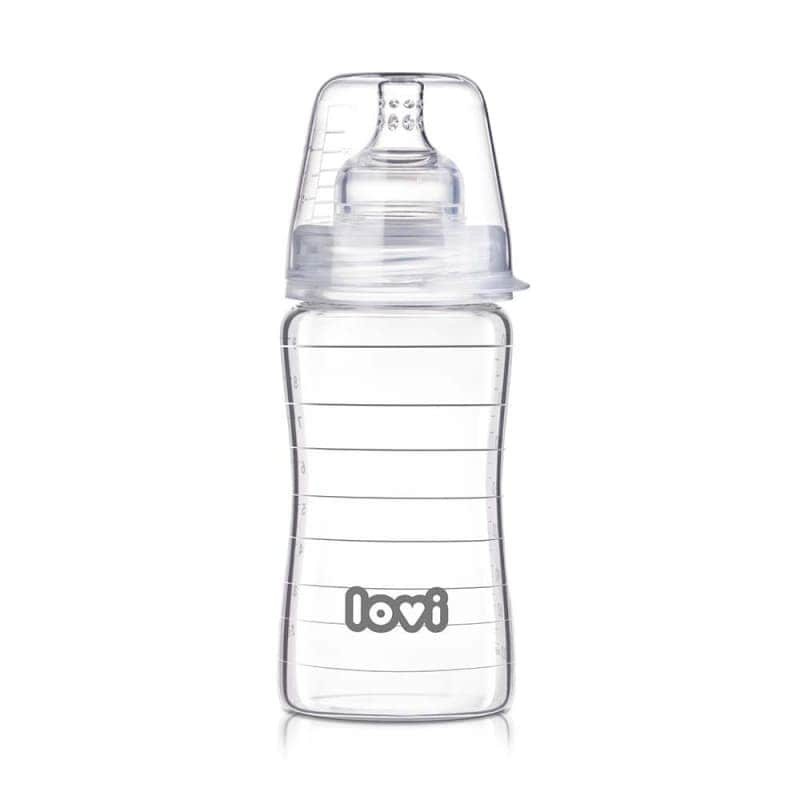 "Бутылочка стеклянная для кормления ""Diamond Glass"", Lovi"