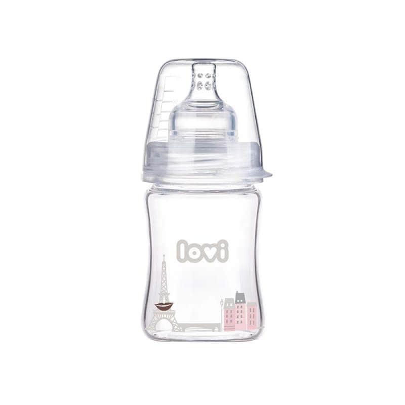 "Бутылочка для кормления стеклянная ""Diamond Glass - Retro girl"", Lovi"