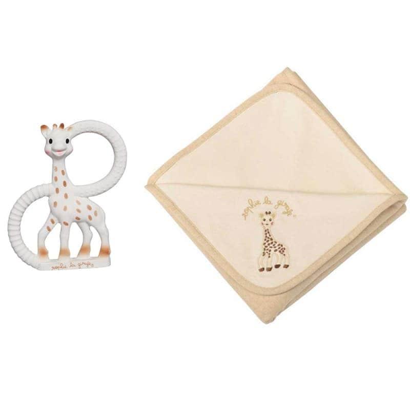 Подарочный набор So Pure (Жирафа Софи с кольцами + плед), Sophie la girafe (Vulli)