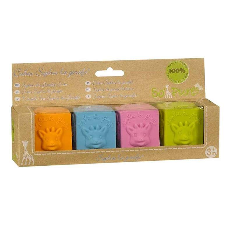 Развивающая каучуковая игрушка-прорезыватель (Кубики), Sophie la girafe (Vulli)