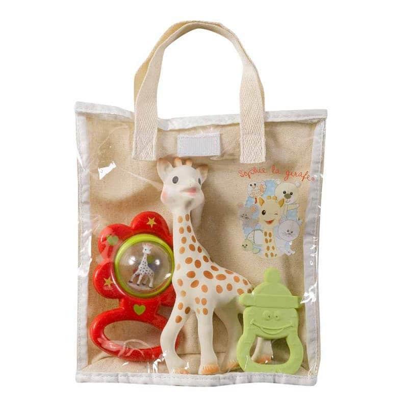 Подарочный набор (Жирафа Софи, погремушка, прорезыватель), Sophie la girafe (Vulli)