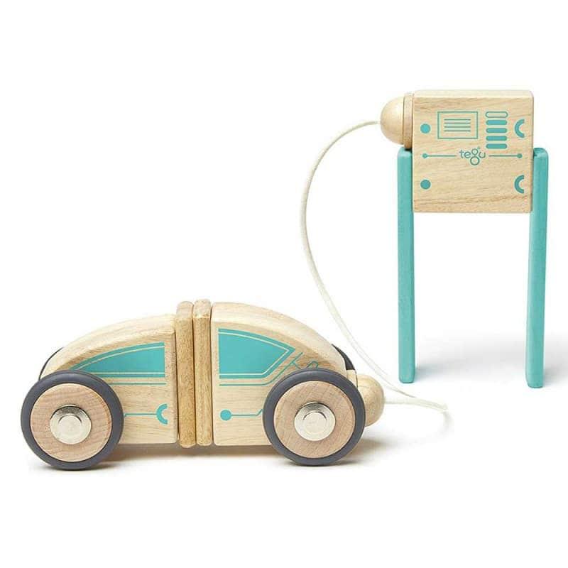 """Деревянный магнитный конструктор """"Circuit Racer"""", Tegu"""