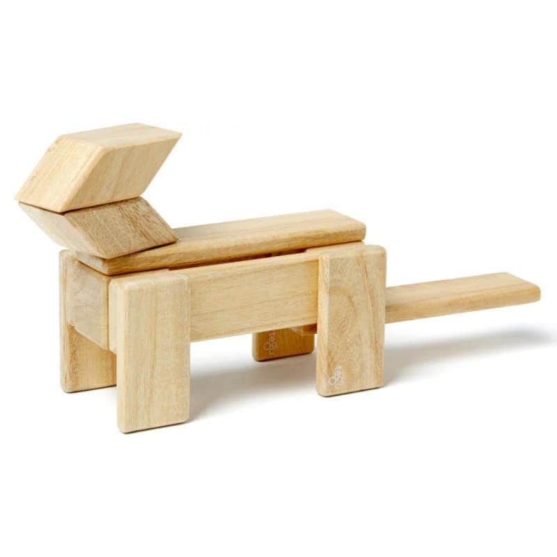 Деревянный магнитный конструктор (14 элементов), Tegu