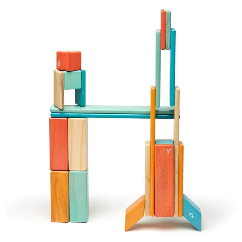 Деревянный магнитный конструктор (24 элемента), Tegu
