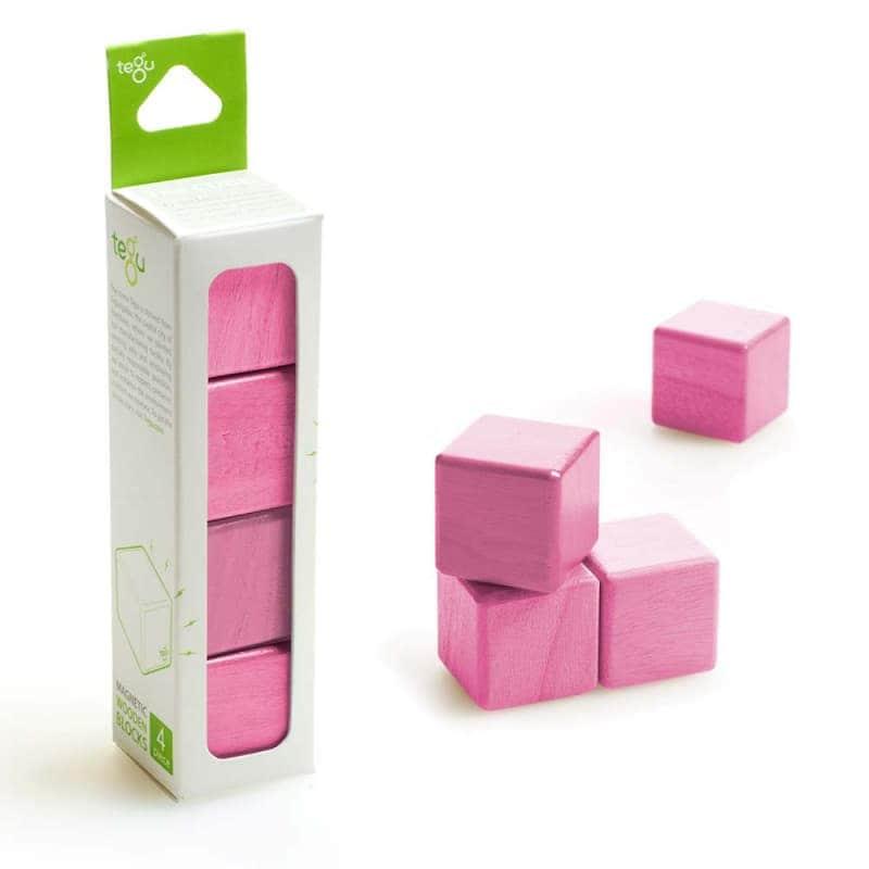 """Деревянный магнитный конструктор """"4 кубика"""", Tegu"""