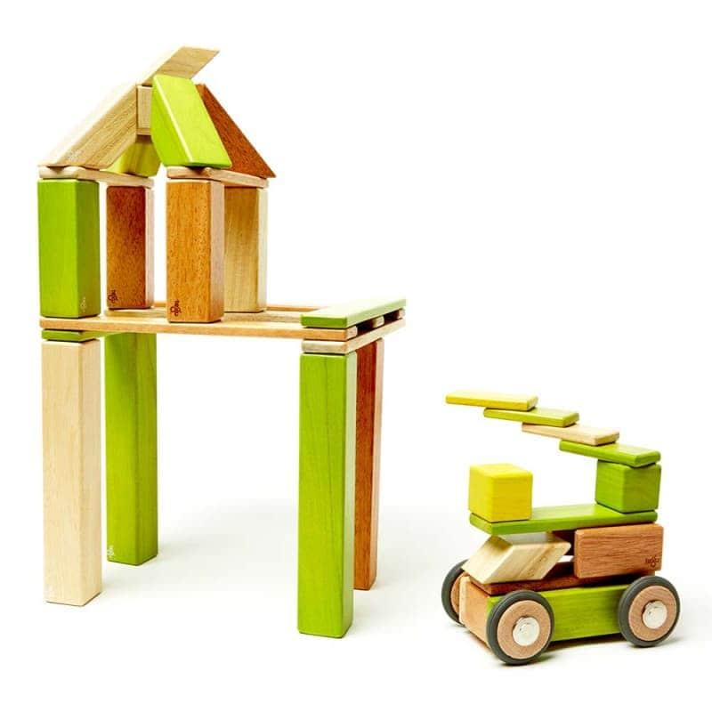 Деревянный магнитный конструктор (42 элемента), Tegu