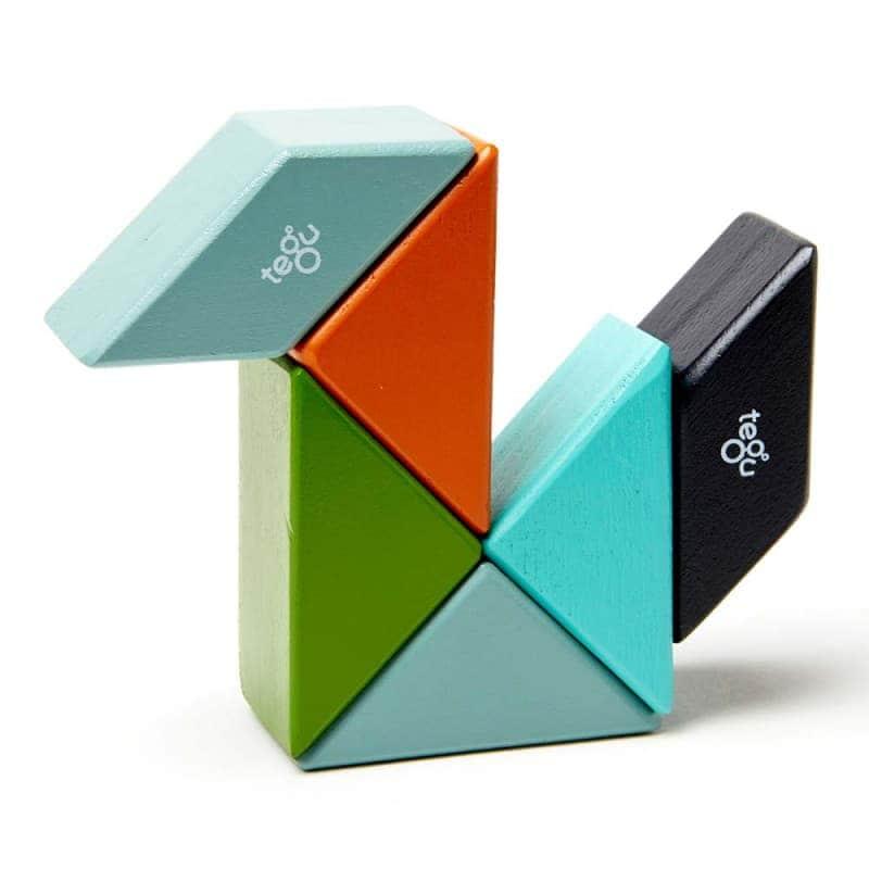 Деревянный магнитный конструктор (6 элементов), Tegu