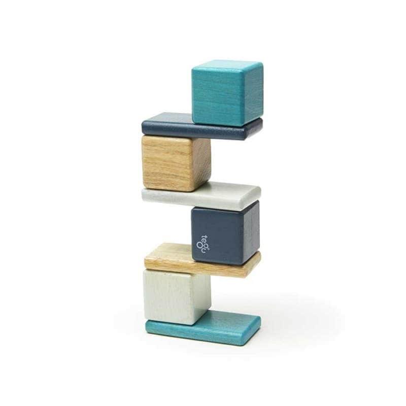 Деревянный магнитный конструктор (8 элементов), Tegu