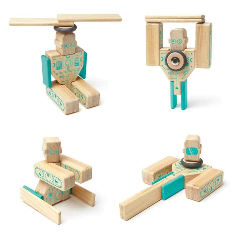 """Деревянный магнитный конструктор """"Magbot"""", Tegu"""