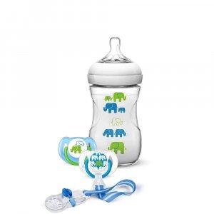 Набор (бутылочка, пустышки, клипса), Philips AVENT Natural