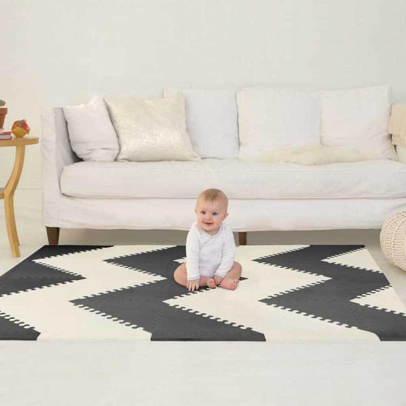 Игровой коврик-пазл Playspot Geo Black/Cream, Skip Hop
