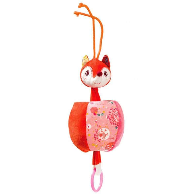"Танцующая игрушка с кольцом ""Лисичка Алиса"", Lilliputiens"