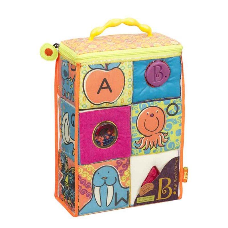 """Развивающие мягкие кубики-сортеры """"ABC"""", Battat"""
