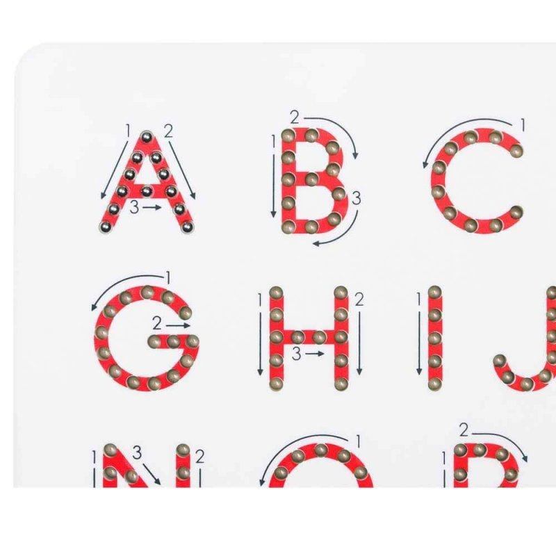 Магнитная доска для изучения больших английских печатных букв от А до Z, KID O