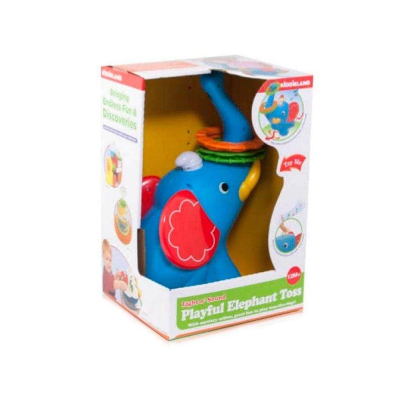 """Развивающая игрушка-кольцеброс """"Ловкий слоненок"""", Kiddieland"""