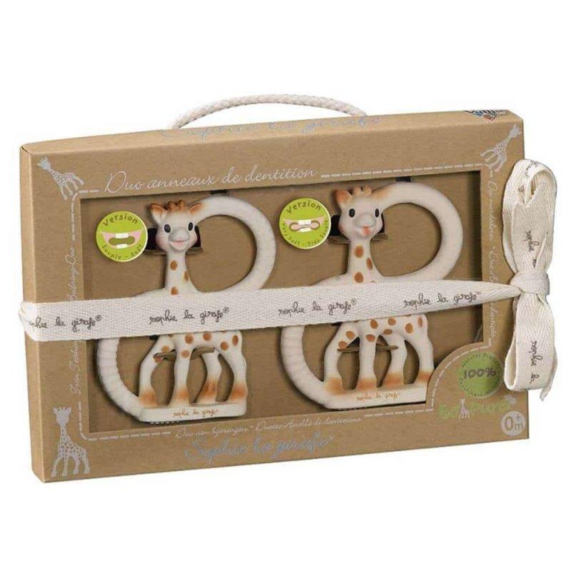 Подарочный набор (Два прорезывателя с кольцами), Sophie la girafe (Vulli)