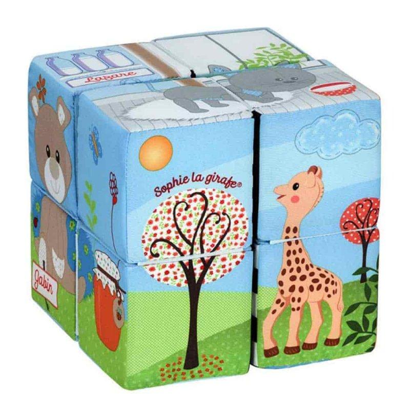 Развивающий куб-пазл, Sophie la girafe (Vulli)