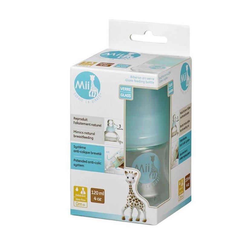 Стеклянная бутылочка для кормления Mii, Sophie la girafe (Vulli)