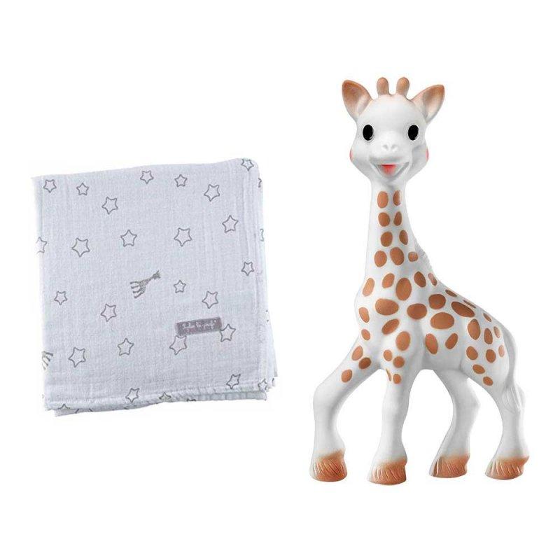 Подарочный набор (Жирафа Софи и пеленка), Sophie la girafe (Vulli)