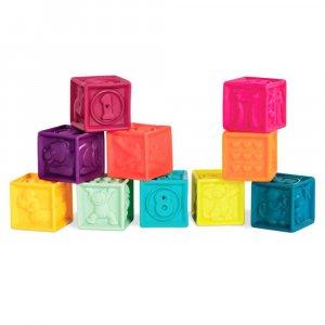 """Развивающие силиконовые кубики """"Посчитай-ка!"""", Battat"""