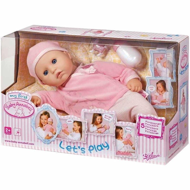 """Интерактивная кукла MY FIRST BABY ANNABELL """"НАСТОЯЩАЯ МАЛЫШКА"""", Zapf"""