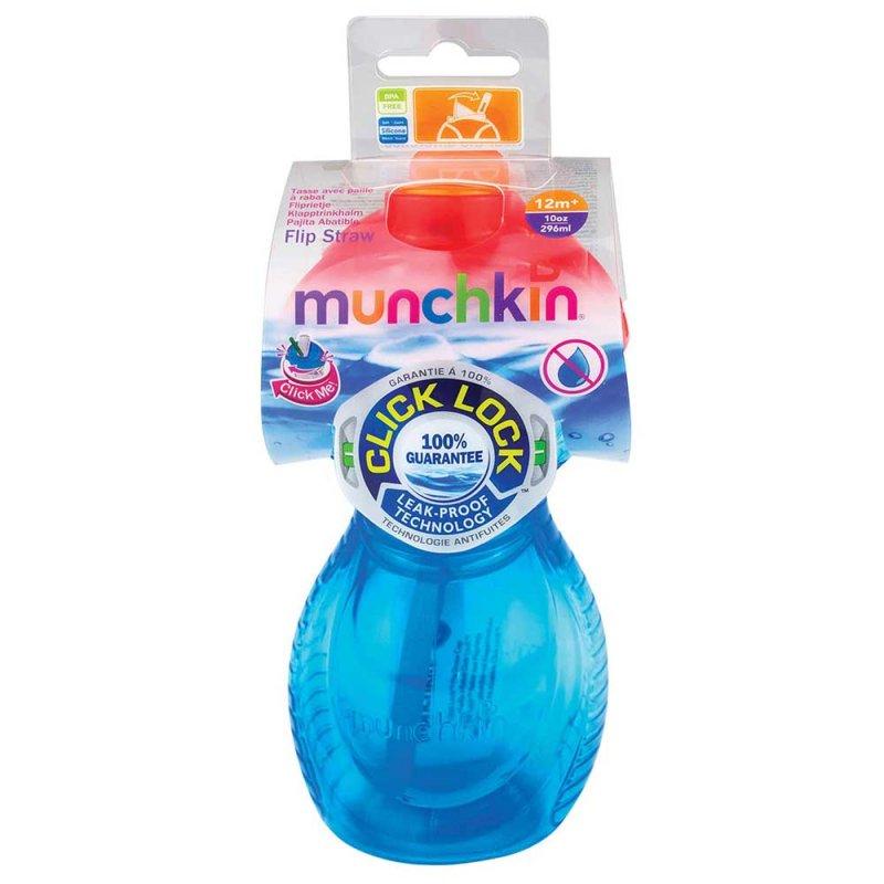 """Бутылочка-непроливайка """"Flip Straw"""" 296 мл, Munchkin"""