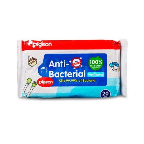 Влажные антибактериальные салфетки, Pigeon