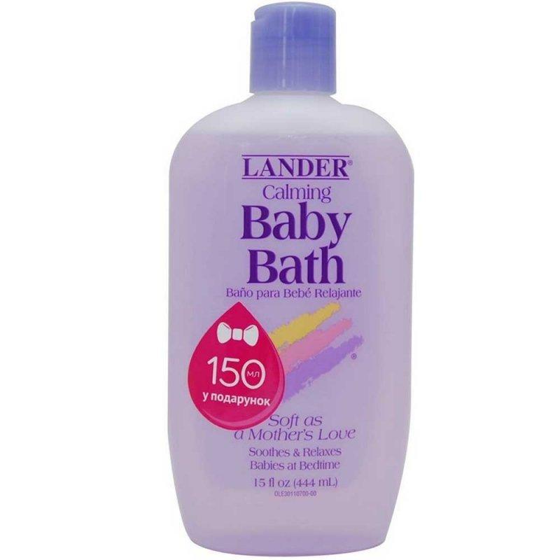 Детская пена для ванны успокаивающая, Lander